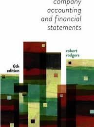 Company Accounting & Financial Statements 6th Edition (with workbook)